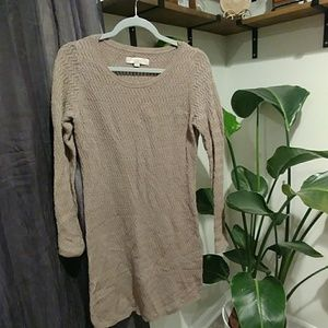 Taupe sweater dress from Loft